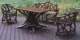 Meble rustykalne z gałęzi kosodrzewiny (XIXw.) - Muzeum w Szklarskiej Porębie