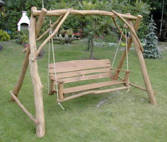 Huśtawki ogrodowe drewniane podlaskie